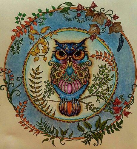 Owl Enchanted Forest Coruja Floresta Encantada Johanna Basford Enchanted Forest Coloring Book Enchanted Forest Coloring Enchanted Forest Book