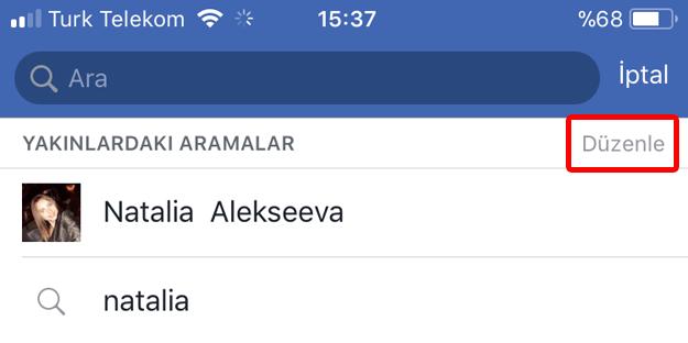 Telefondan Facebook Arama Gecmisi Silme 1 Adim Facebook Arama Adlar