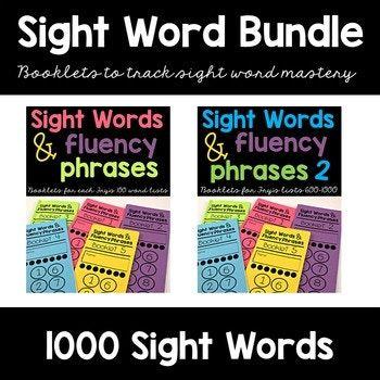 Photo of Sight Word Fluency Phrase Books Bundle
