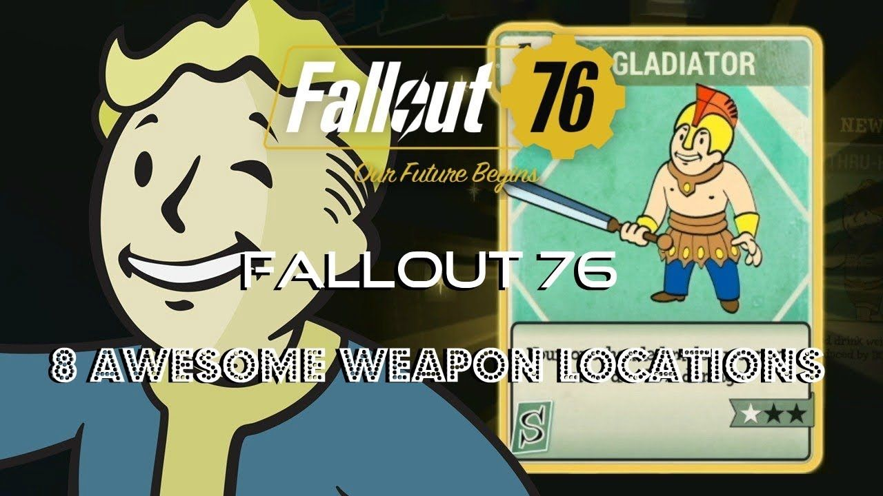 Fallout 76 | 8 Awesome Weapons Locations | Alien Blaster + 50 Cal