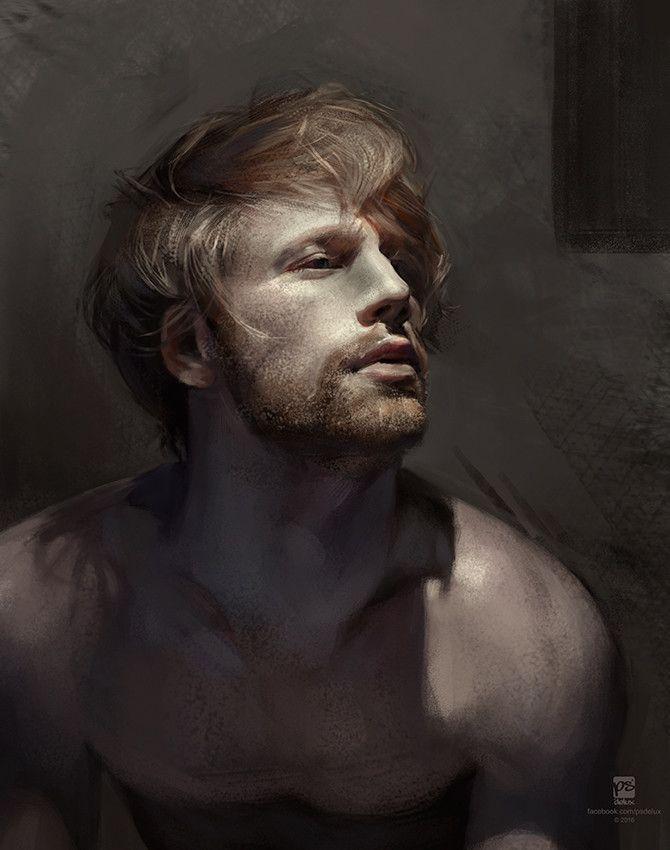 Male 0108 Psdelux Portrait Digital Painting Male Art
