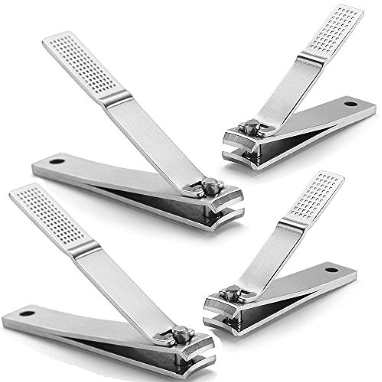 HQY 4 Pack Nail Clipper Set - Fingernail Toenail - Stainless Steel ...