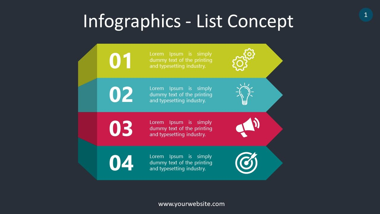 Free List Infographics Slides Powerpoint Template Powerpoint Templates Powerpoint Infographic
