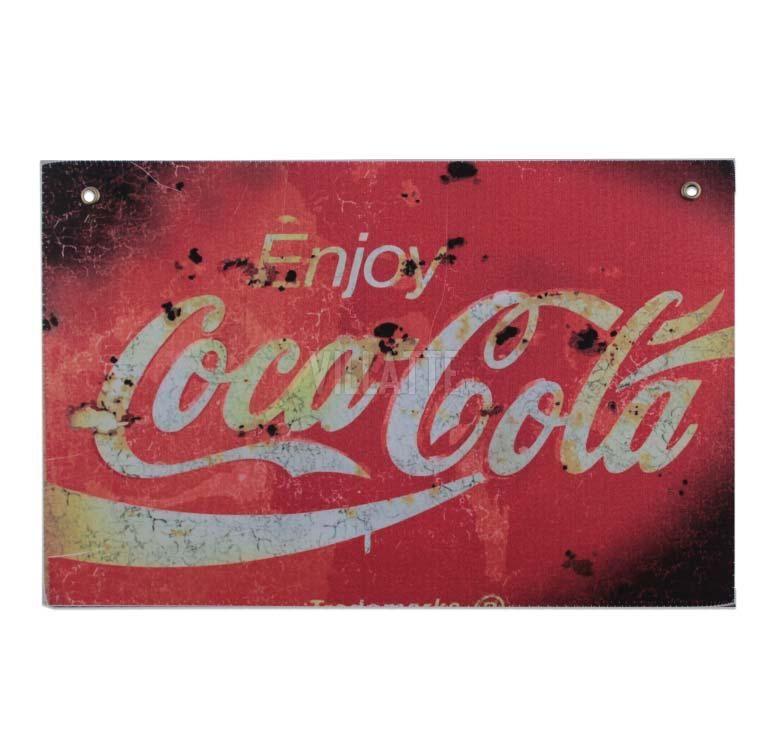 Cartel Chapa - Coca Cola Enjoy