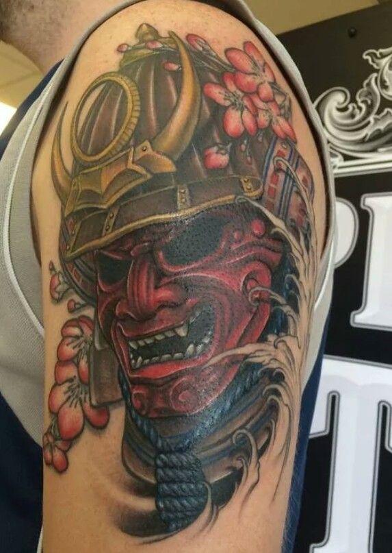Pin By Rick On Tattoos Pinterest Ganzarm Tattoo Samurai Maske