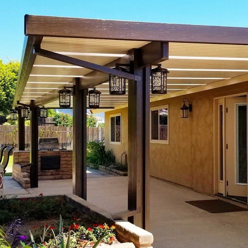 Solid Alumawood Patio Cover With Skylights Aluminum Patio Covers Covered Patio Skylight