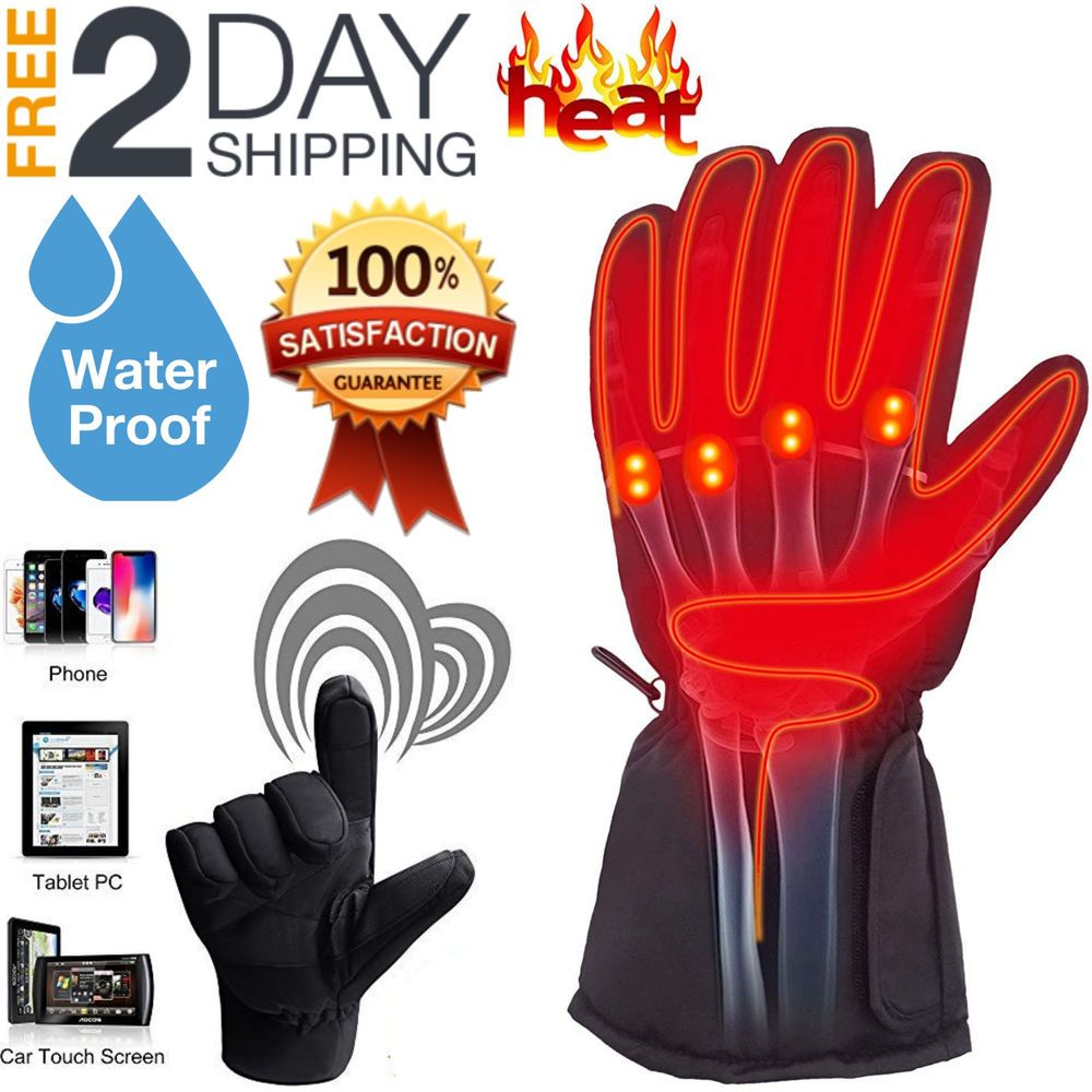Details About Usb Heated Gloves Winter Unisex Thermal Hand Warmer Electric Heating Glove Gifts Hand Warmers Gloves Winter Snow Gloves