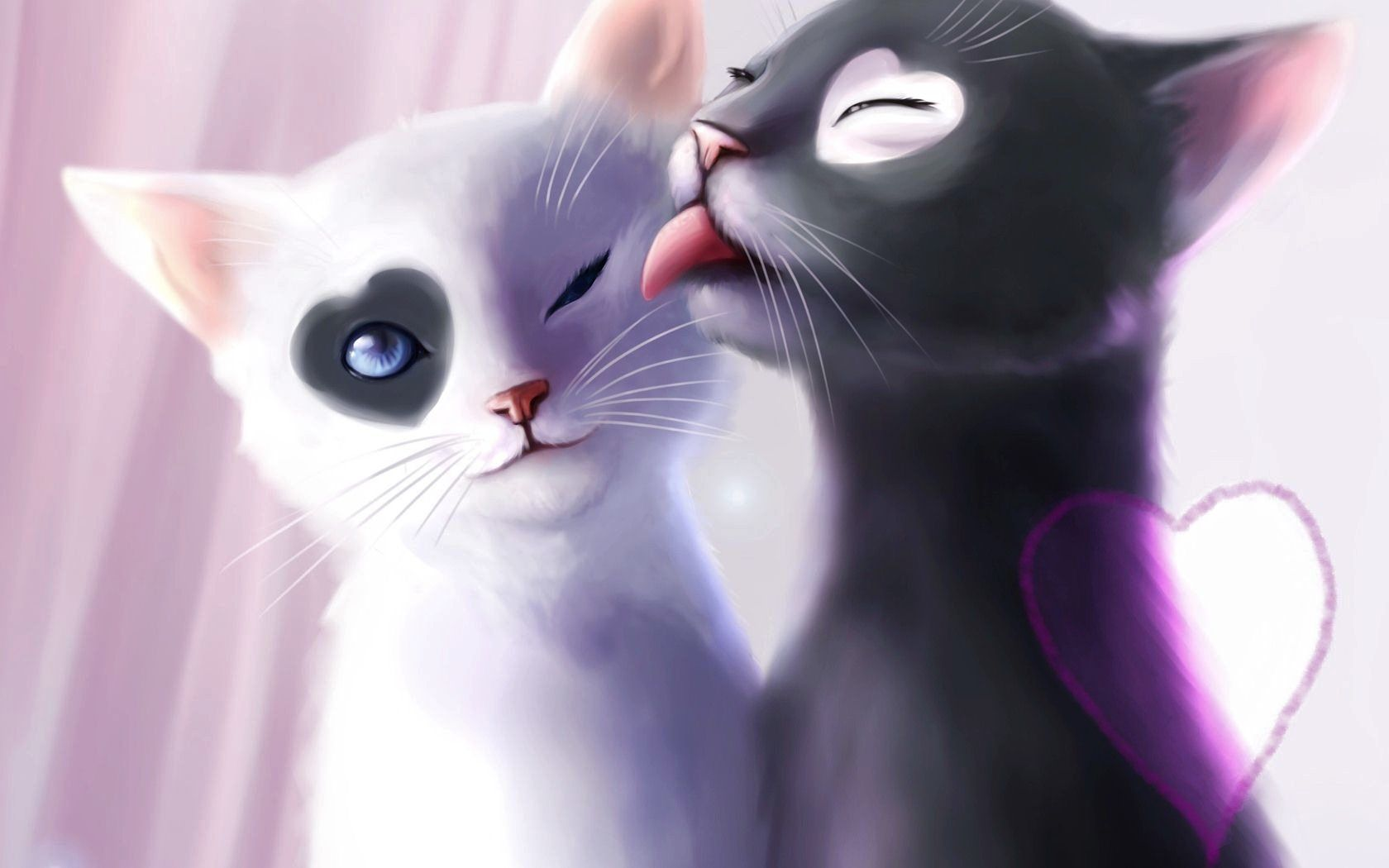 Lovely Anime Cat Couples Images Hd Wallpapers Images Anime And
