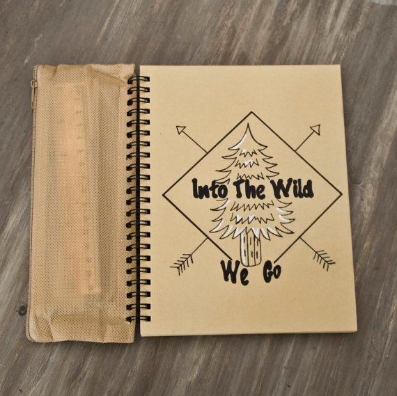 Sketch-pad Into The Wild We Go  lined paper  recycled paper My - lined paper with picture