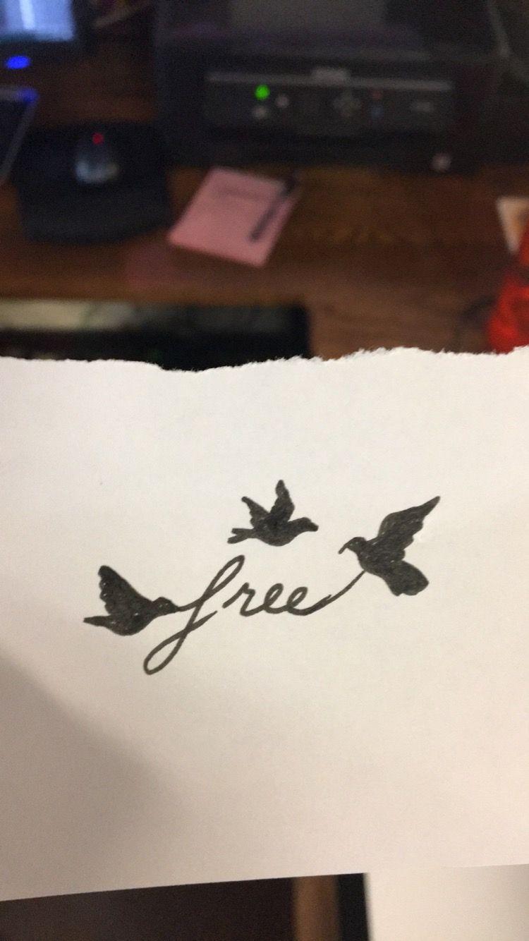 Free Tattoo With Birds Free Bird Tattoo Birds Tattoo Freedom Tattoos