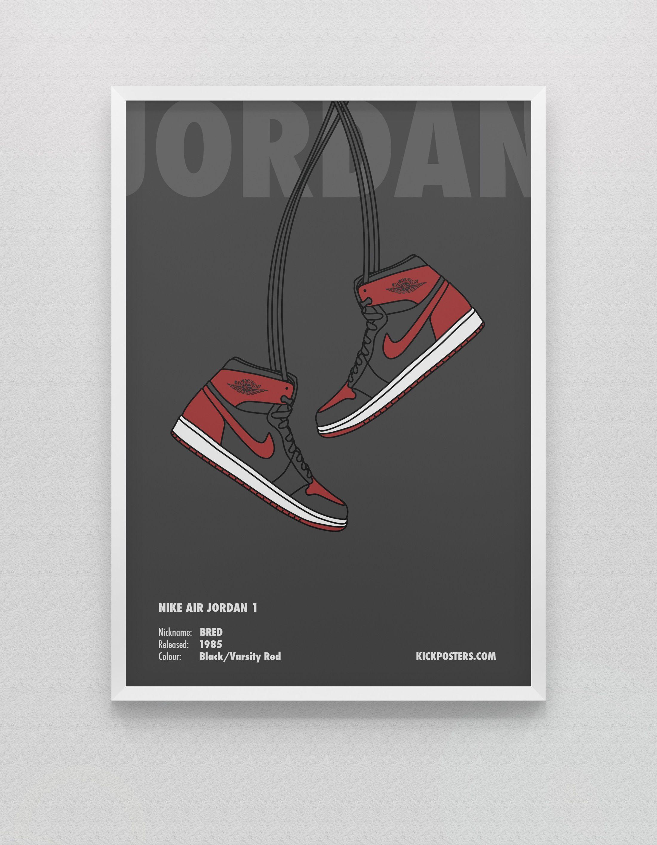 history of air jordan shoes posters design 813438