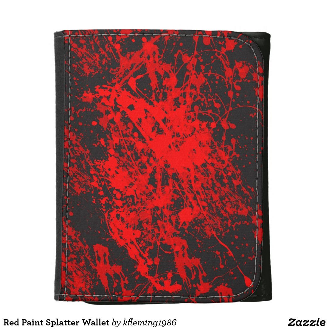 Red Paint Splatter Wallet