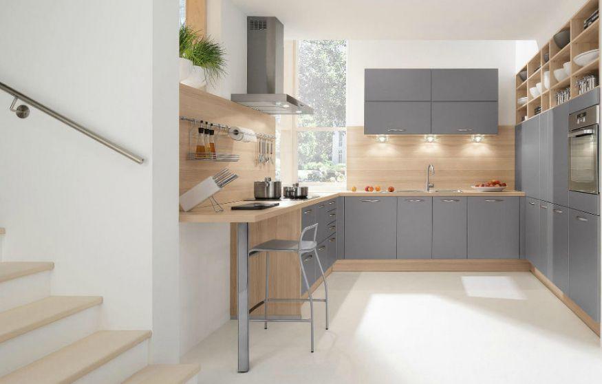 Moderne Küche / Laminat / Lackiert / Mit Griffen 241