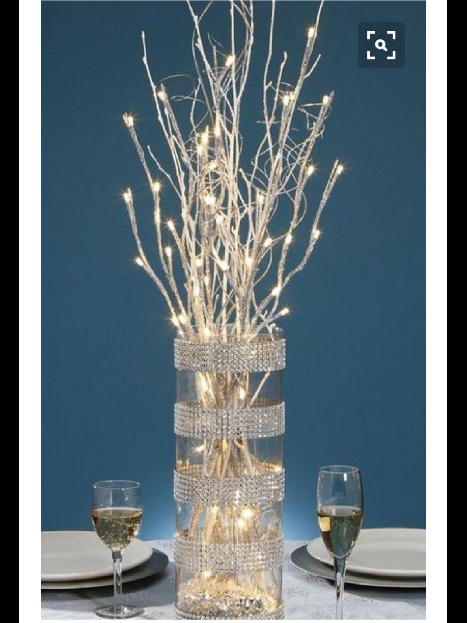 Groovy Lighted Branch Centerpiece Thats Entertainment In 2019 Interior Design Ideas Clesiryabchikinfo