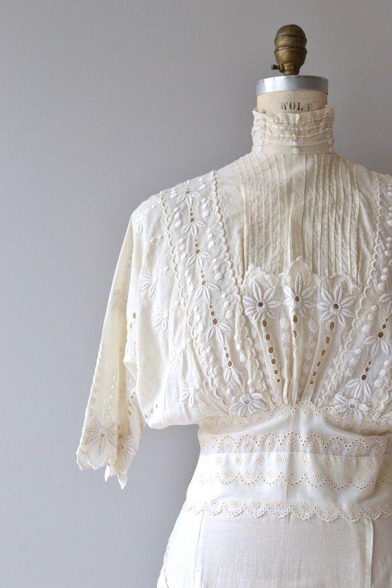 Im Leerlauf Stunde Kleid Antike Edwardian Kleid von DearGolden