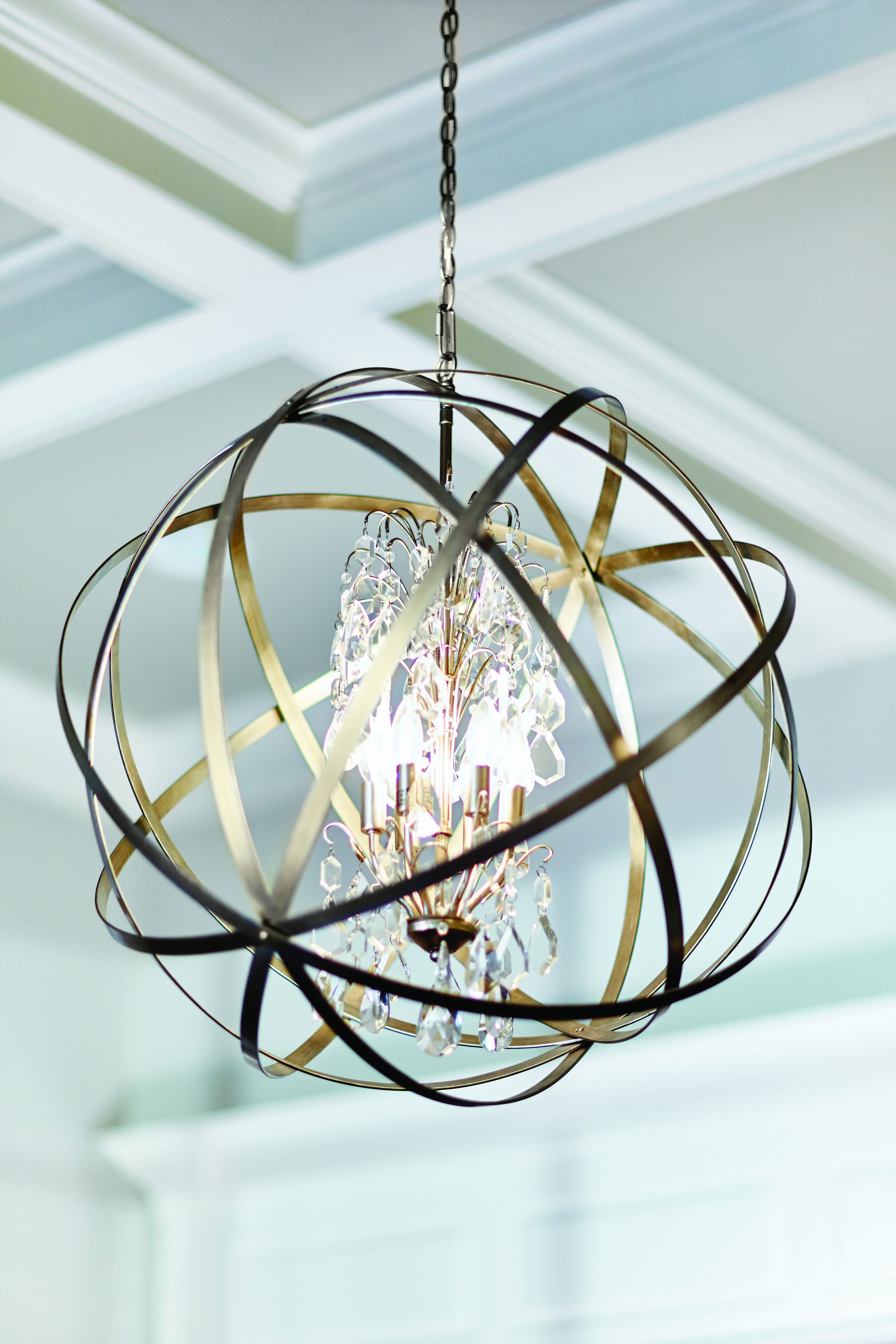 The axis pendant with crystals by capital lighting fixture co