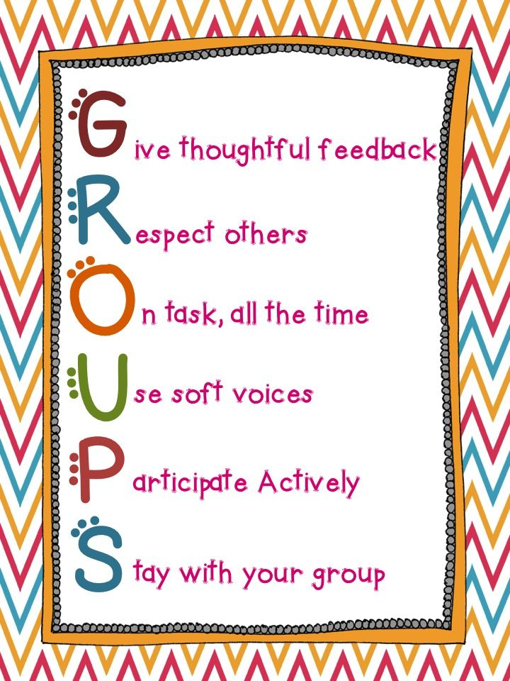 Classroom Welcome Design ~ Groups acronym educational ideas pinterest classroom