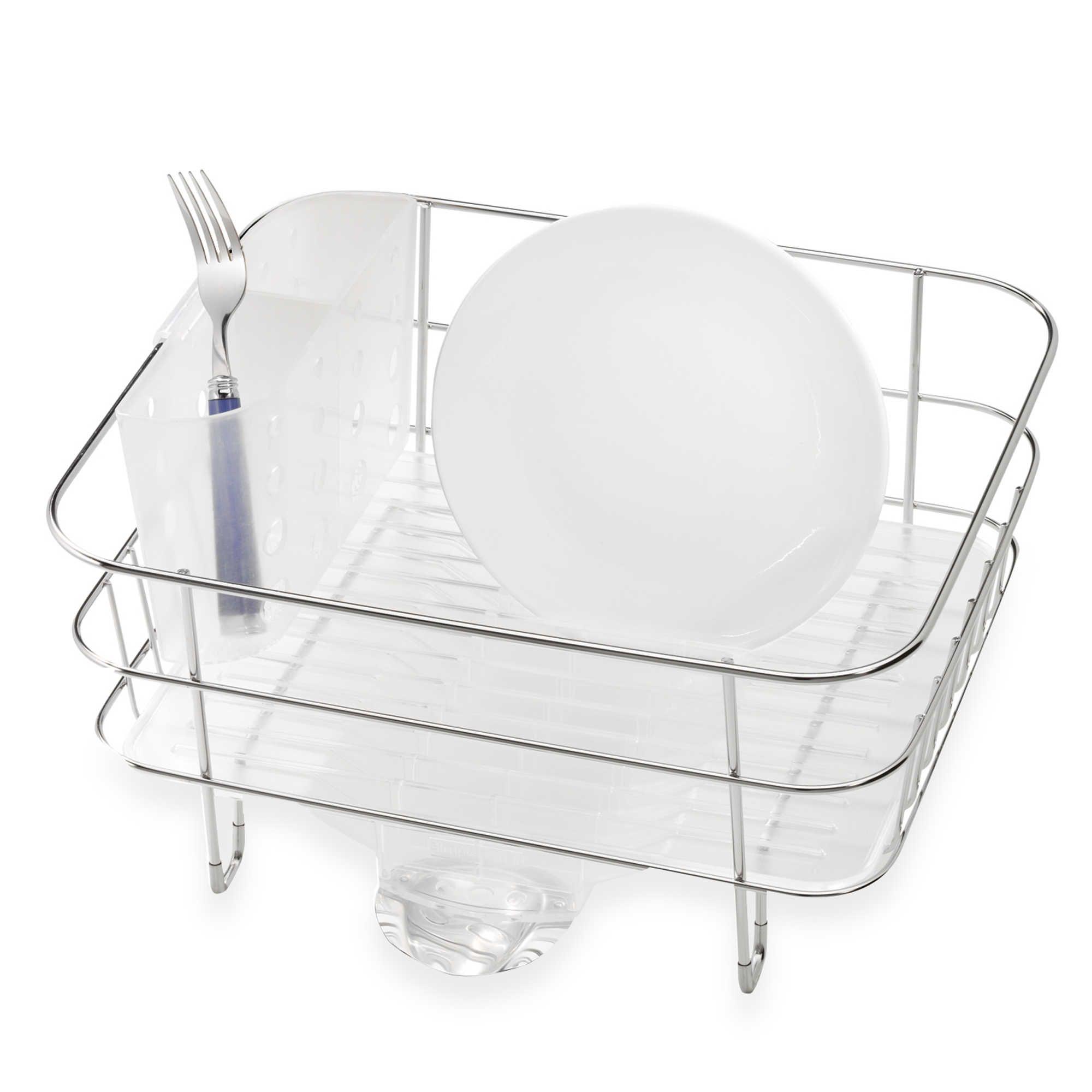 Best Simplehuman® Compact Stainless Steel Dish Rack Casitas 400 x 300