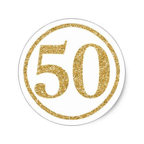Glittering Gold Number 50 Anniversary Classic Round Sticker Zazzle Com In 2021 Happy 50th Anniversary 50th Birthday Party Games 50th Anniversary