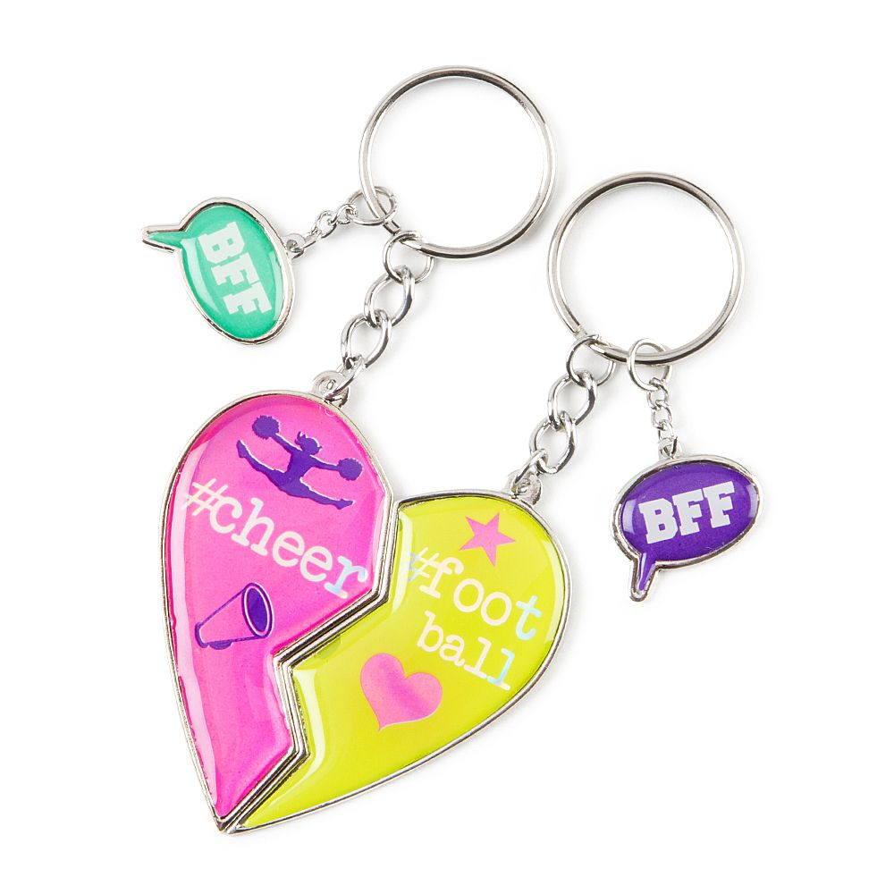 Best Friends Cheer and Football Keychains | Claire's