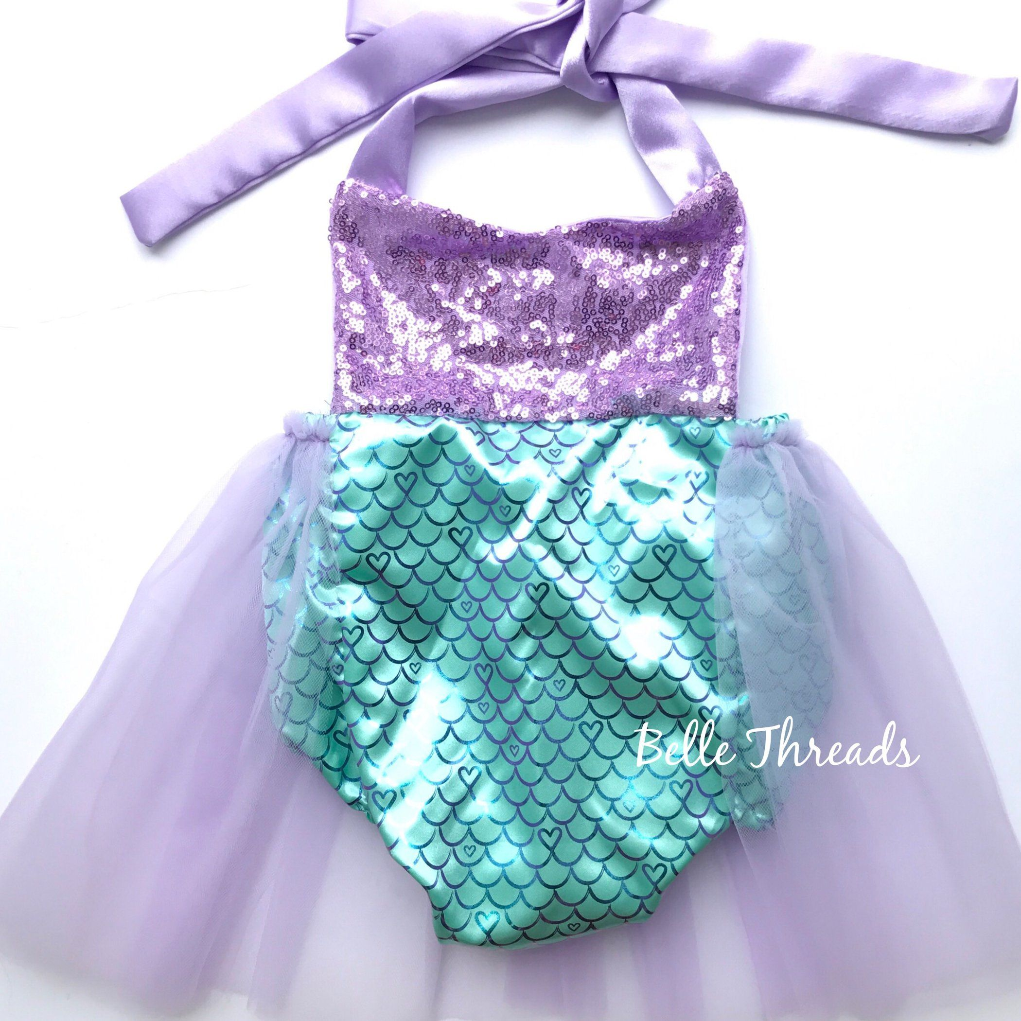 e942589bf79f Handmade by Belle Threads. .  mermaidtutu  mermaidtutudress  mermaidoutfit   mermaidromper  mermaidparty