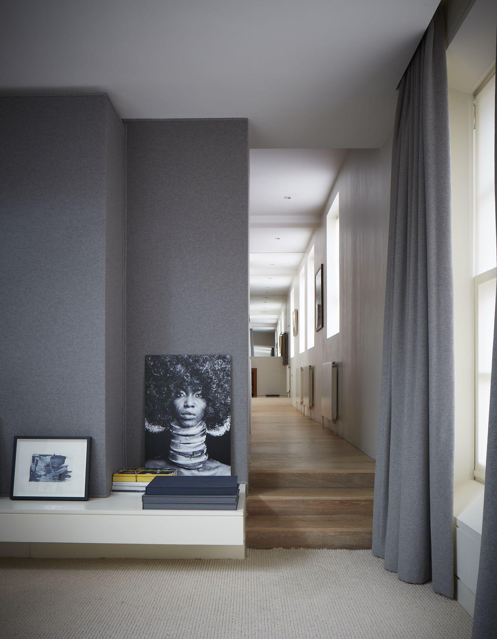 Grey Hallway Curtains Simple Plain Elegant