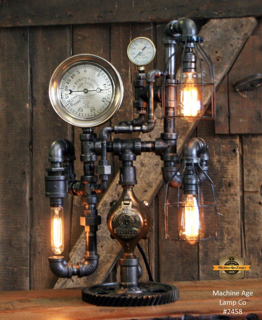 Pin by Jan Odaffet on Lighting | Steampunk table lamp