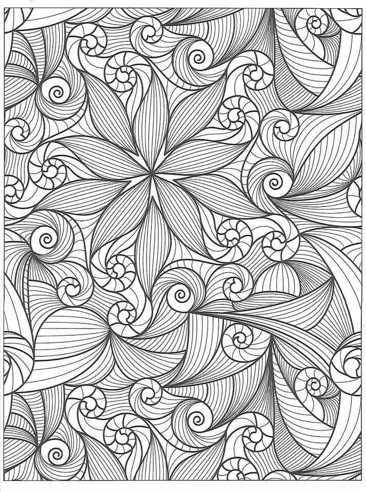 Swirls | adult coloring | Pinterest | Mandalas, Dibujos and Te la ...