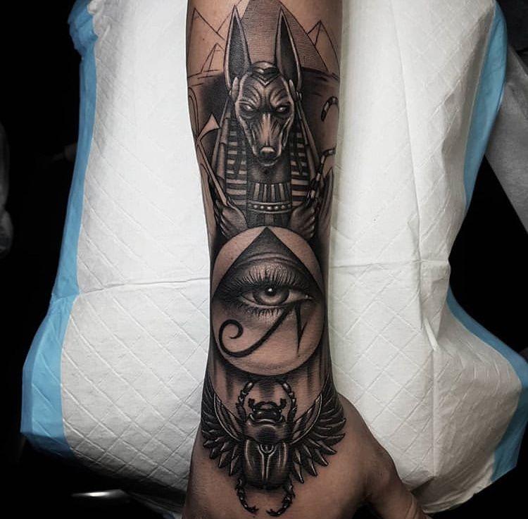 @OhHotNellie | Egyptian tattoo sleeve, Egyptian tattoo