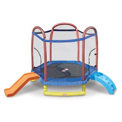 Little Tikes 7 Climb N Slide Trampoline With Safety Enclosure