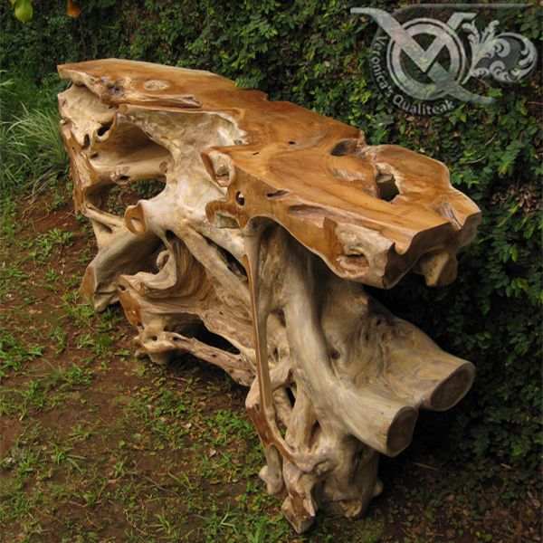 Teak Root Console Table - VDT 029 from leftover roots
