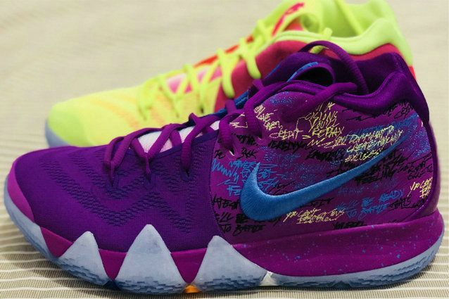 new style c73c1 7ab17 2018 Newest Confetti Nike Kyrie 4 AJ1691-900 Mens Basketball Shoes Multi  Color Release Date December 16th 2017