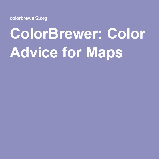 ColorBrewer: Color Advice for Maps