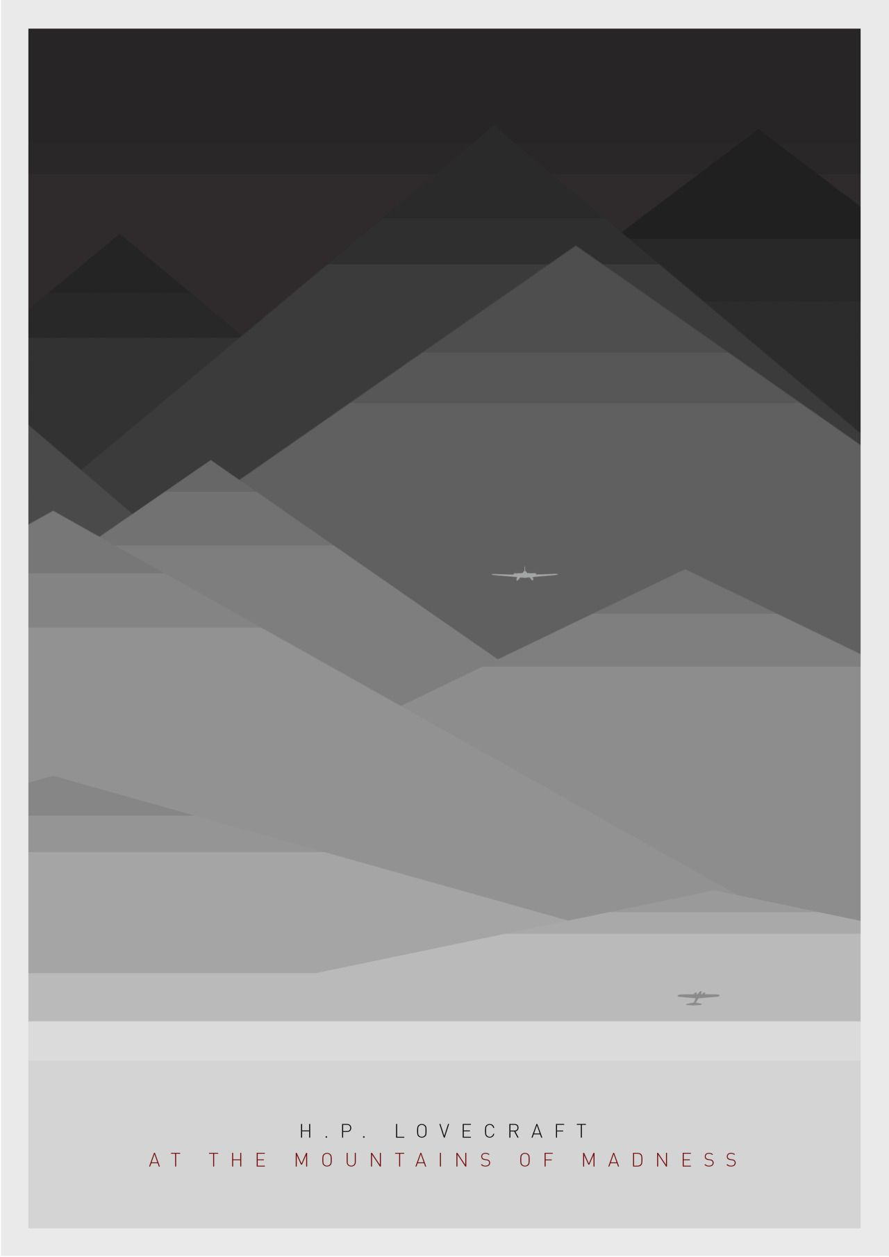 Lovecraftian At the mountains of Madness Minimal Poster