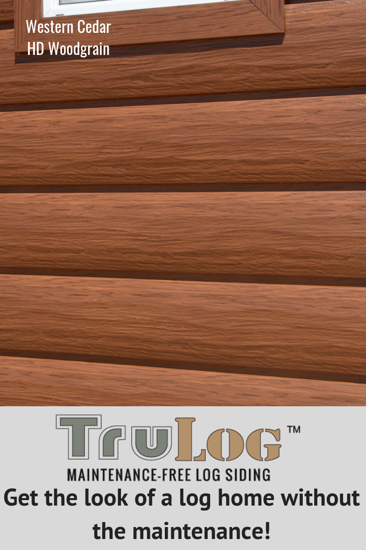 Log Siding Choose Durable Steel Log Siding Casas De Madera De Madera Madera