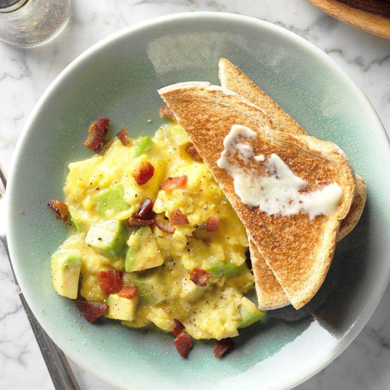 Ham And Avocado Scramble Recipe: Avocado Scrambled Eggs, Easy