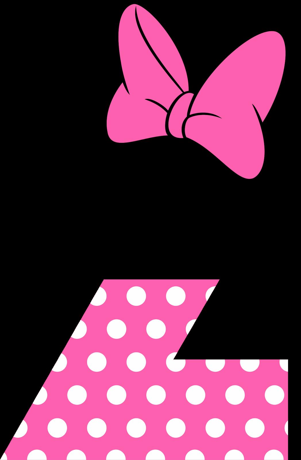 Alfabeto Minnie Rosa Free