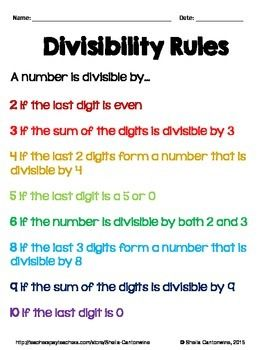 divisibility rules worksheets  levels   math games  math  divisibility rules worksheets  levels