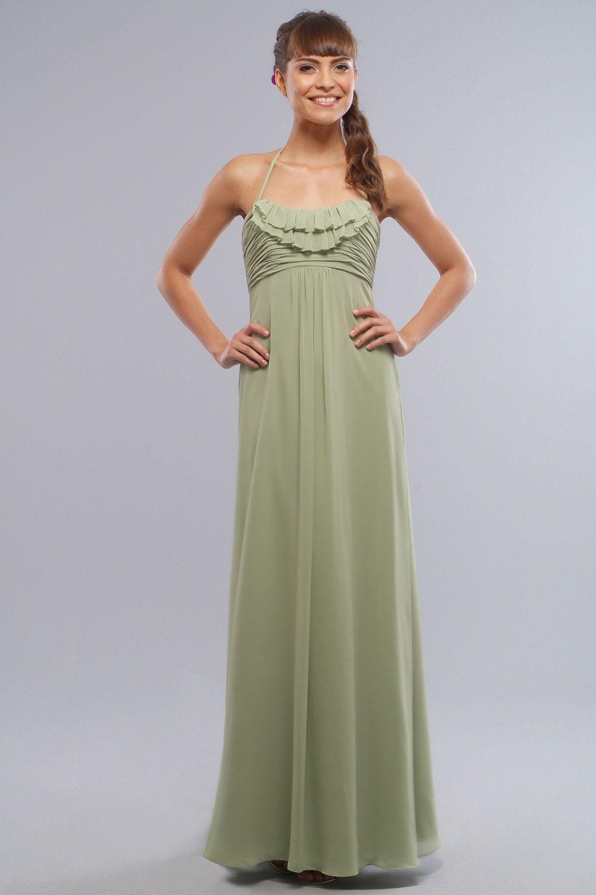 f47bbe4a161 Halter chiffon dress with empire
