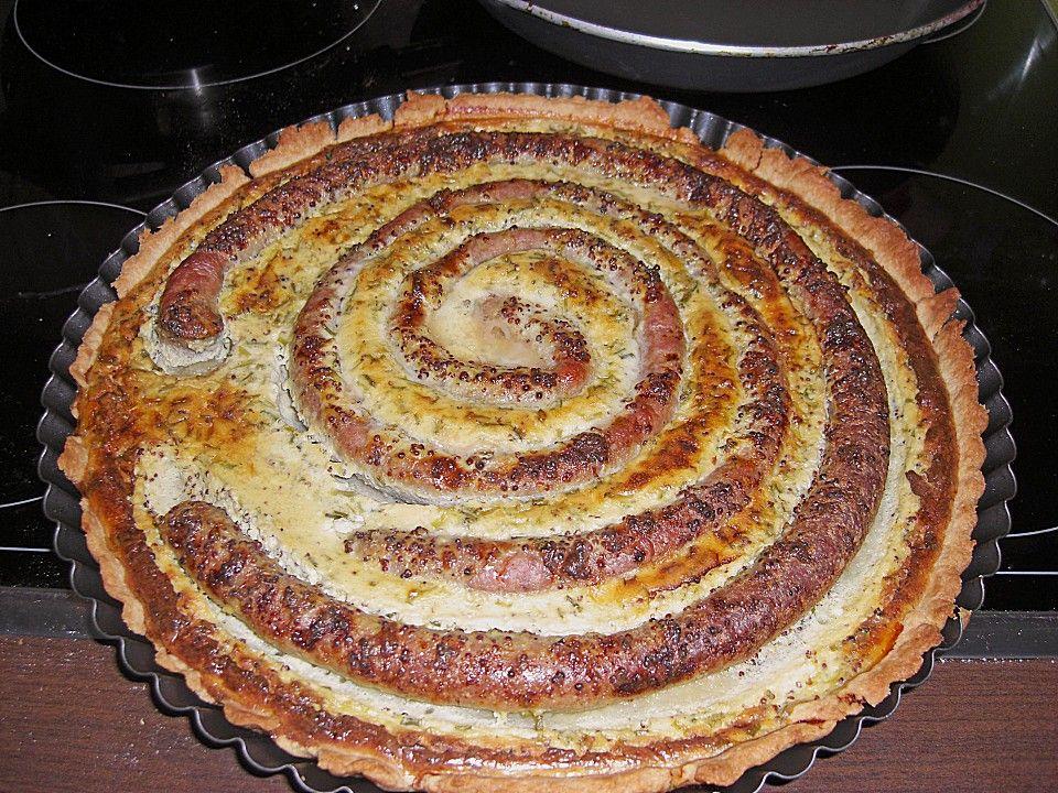 Bratwurst - Torte mit Senfkruste   Essen und Trinken ...