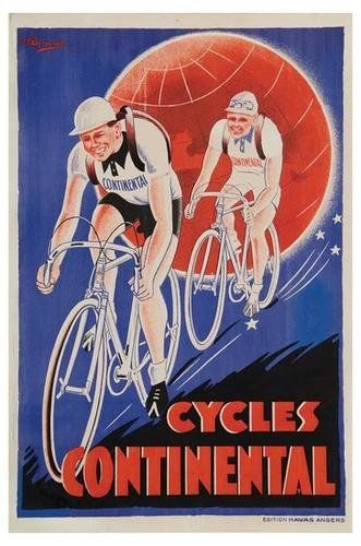 CYCLES PLASSON vintage french bicycle ad COLLECTORS SPORTY CLASSIC 24X36