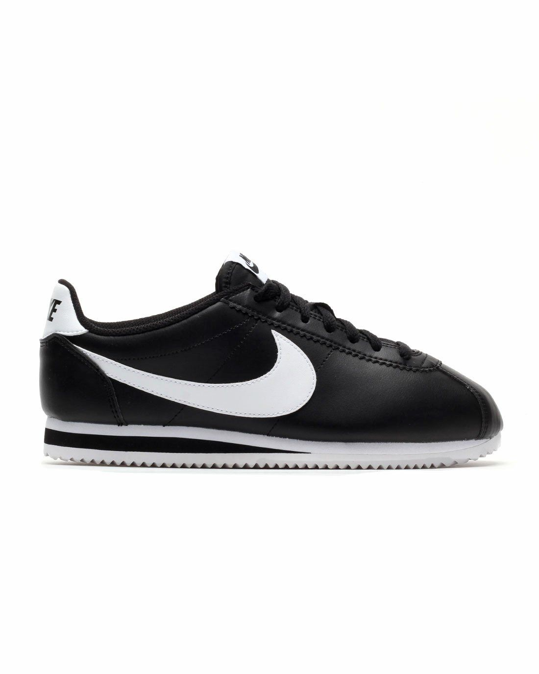Nike Women's Wmns Classic Cortez Leather, BALCK/WHITE-WHITE, 10.5 US. Model  Number: 807471010. Gender: womens. Color: BALCK/WHITE-WHITE.