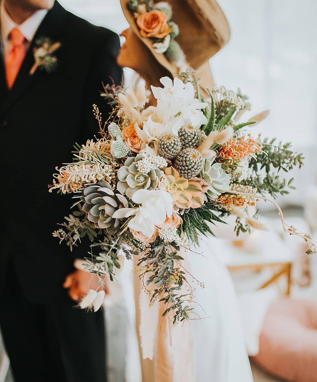 Fall Wedding Bouquets, Bronze