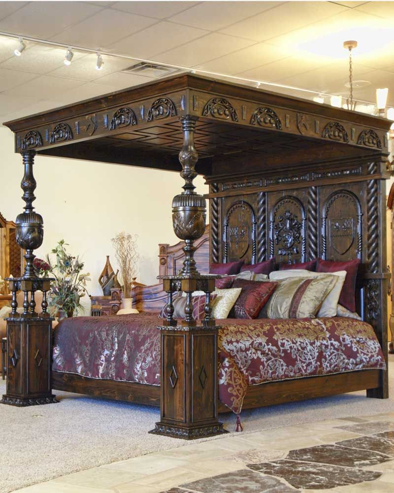 Hand Carved Medieval Canopy Bed: Inspired By Ireland's