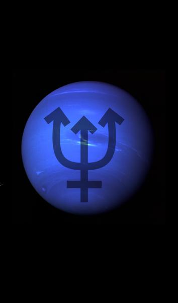 Neptune Astronomical Symbols Main Planets Solar System Dwarf