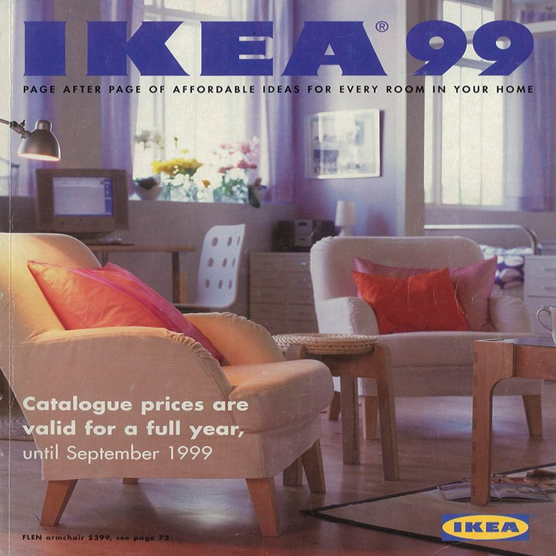 the 1999 ikea catalogue ikea catalogue covers pinterest. Black Bedroom Furniture Sets. Home Design Ideas