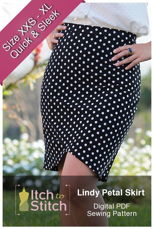 Lindy Petal Skirt Digital Sewing Pattern (PDF | Sewing | Pinterest ...