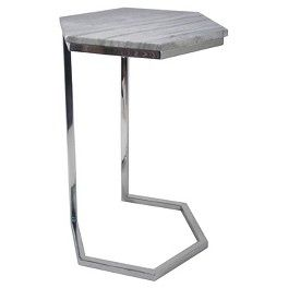 Threshold Hexagonal Marble Top Accent Table Marble Top Accent Table Accent Table Sofa Side Table