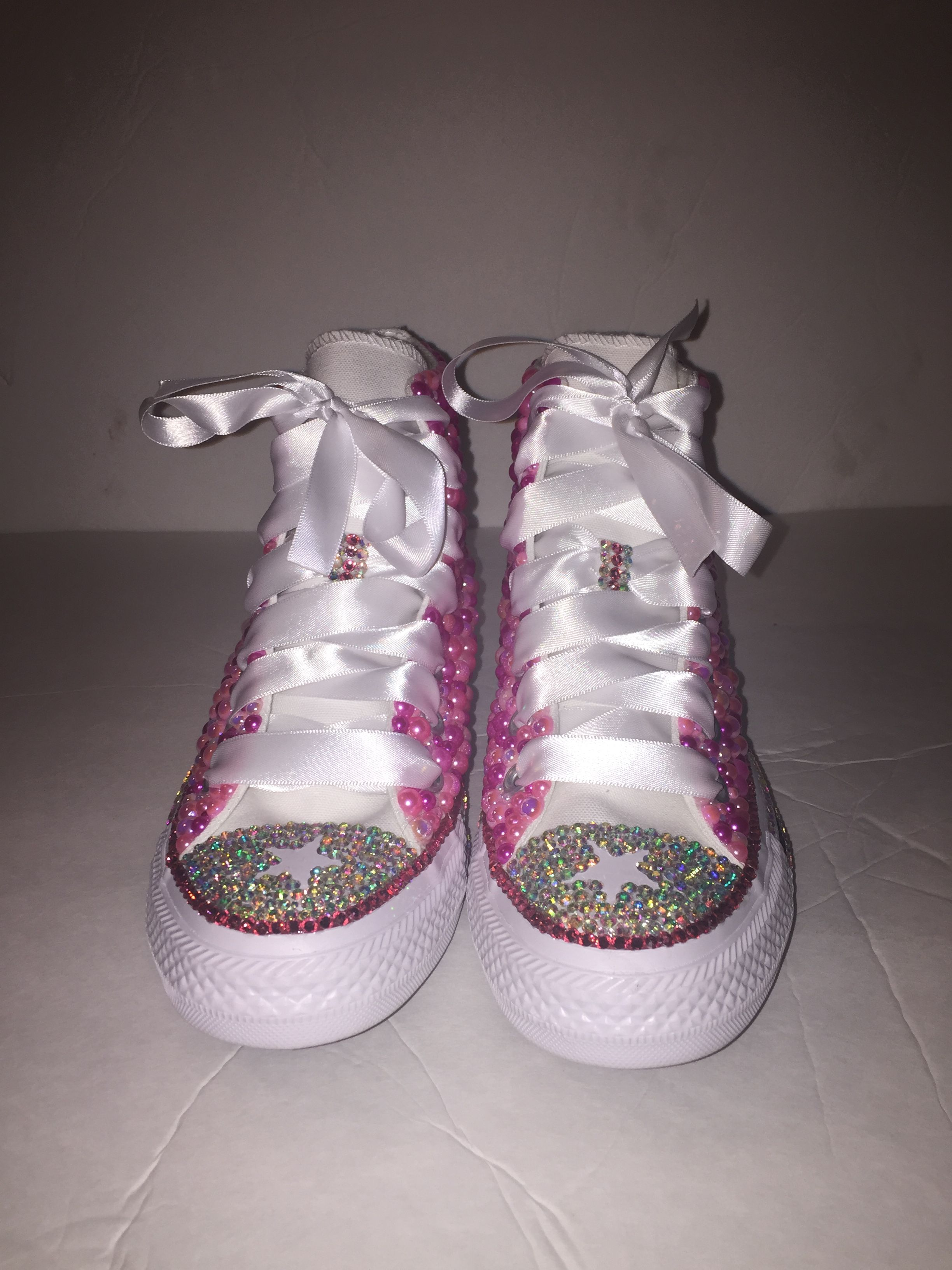 045ec2662a57  Custom bling Converse All Star Chuck Taylor Sneakers embellished with high  quality rhinestones and