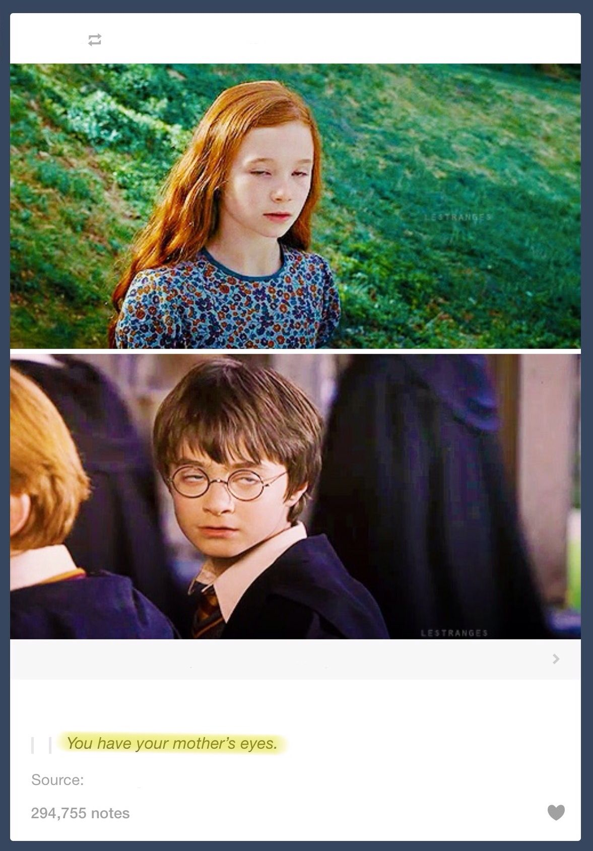 You have your mother's eyes  #harrypotter #lilypotter #humor